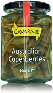100g bottle of Gavarnie Australian Caperberries